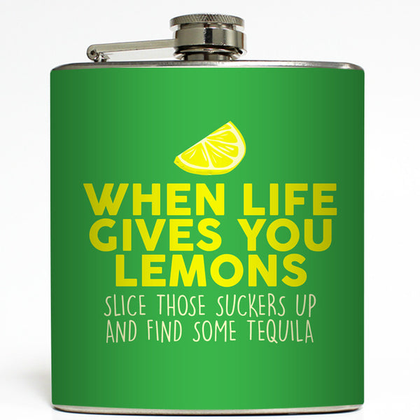 When Life Gives You Lemons - Funny Tequila Flask