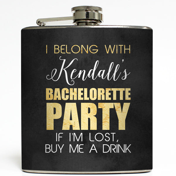 Bachelorette Party Gold - Wedding Flask