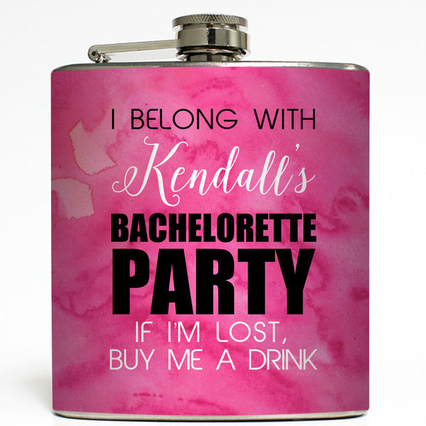 Bachelorette Party Pink - Wedding Flask