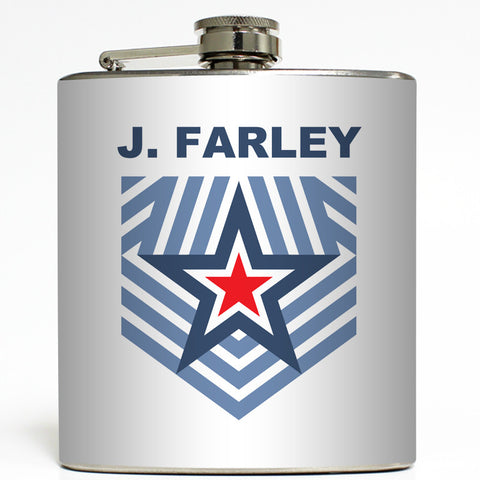 Military Star - Personalized Flask