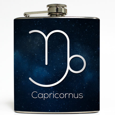 Capricornus - Astrology Zodiac Sign Flask