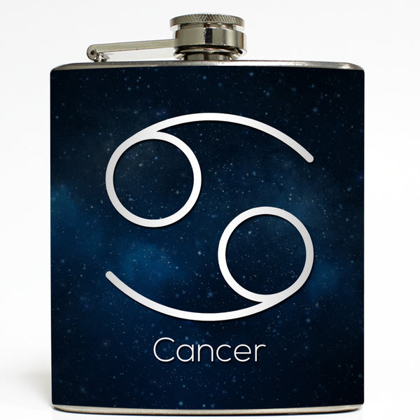 Cancer - Astrology Zodiac Sign Flask