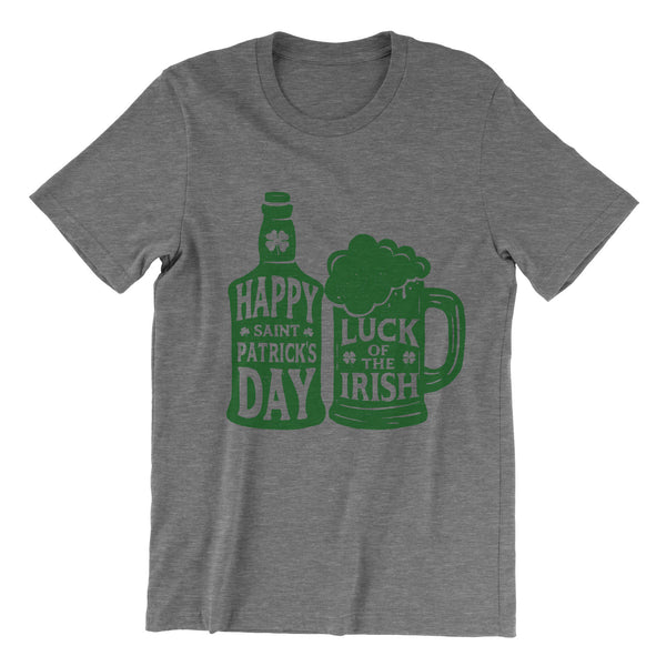 Happy Saint Patrick's Day - Grey Tri Blend T-Shirt