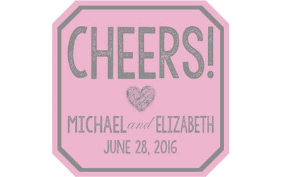 Cheers - Wedding Patron Mini Bottle Labels