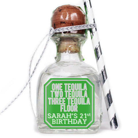 Floor - Birthday Patron Mini Bottle Labels