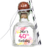 Watercolor Birthday - Birthday Patron Mini Bottle Labels