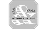 Mr. & Mrs. - Wedding Patron Mini Bottle Labels
