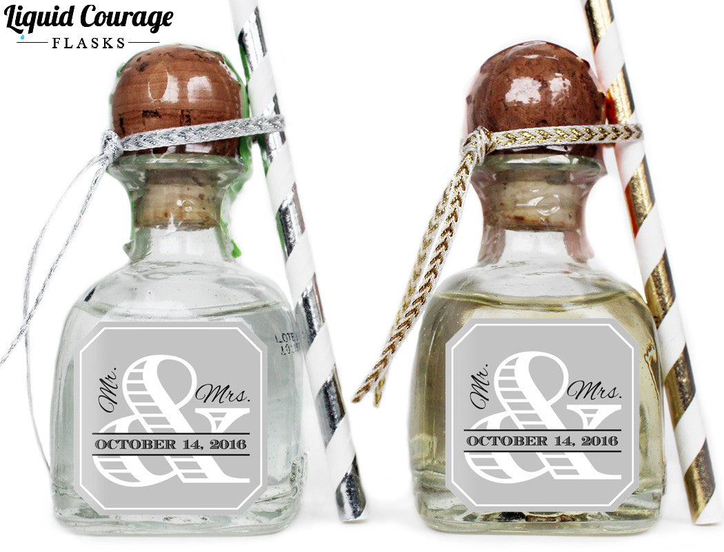 Funky Mini Tequila Bottles Wedding Favors Festooning - The Wedding ...