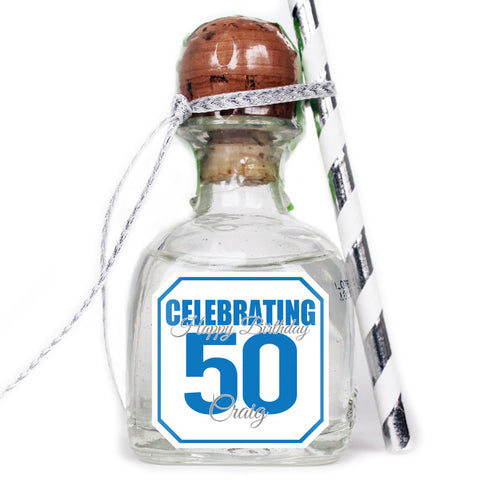 Celebrating - Birthday Patron Mini Bottle Labels