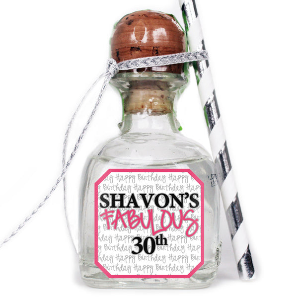Fabulous - Birthday Patron Mini Bottle Labels