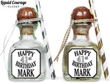 Happy Birthday - Birthday Patron Mini Bottle Labels