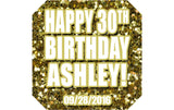 Gold Glitter - Birthday Patron Mini Bottle Labels