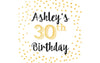Gold Dots - Birthday Patron Mini Bottle Labels