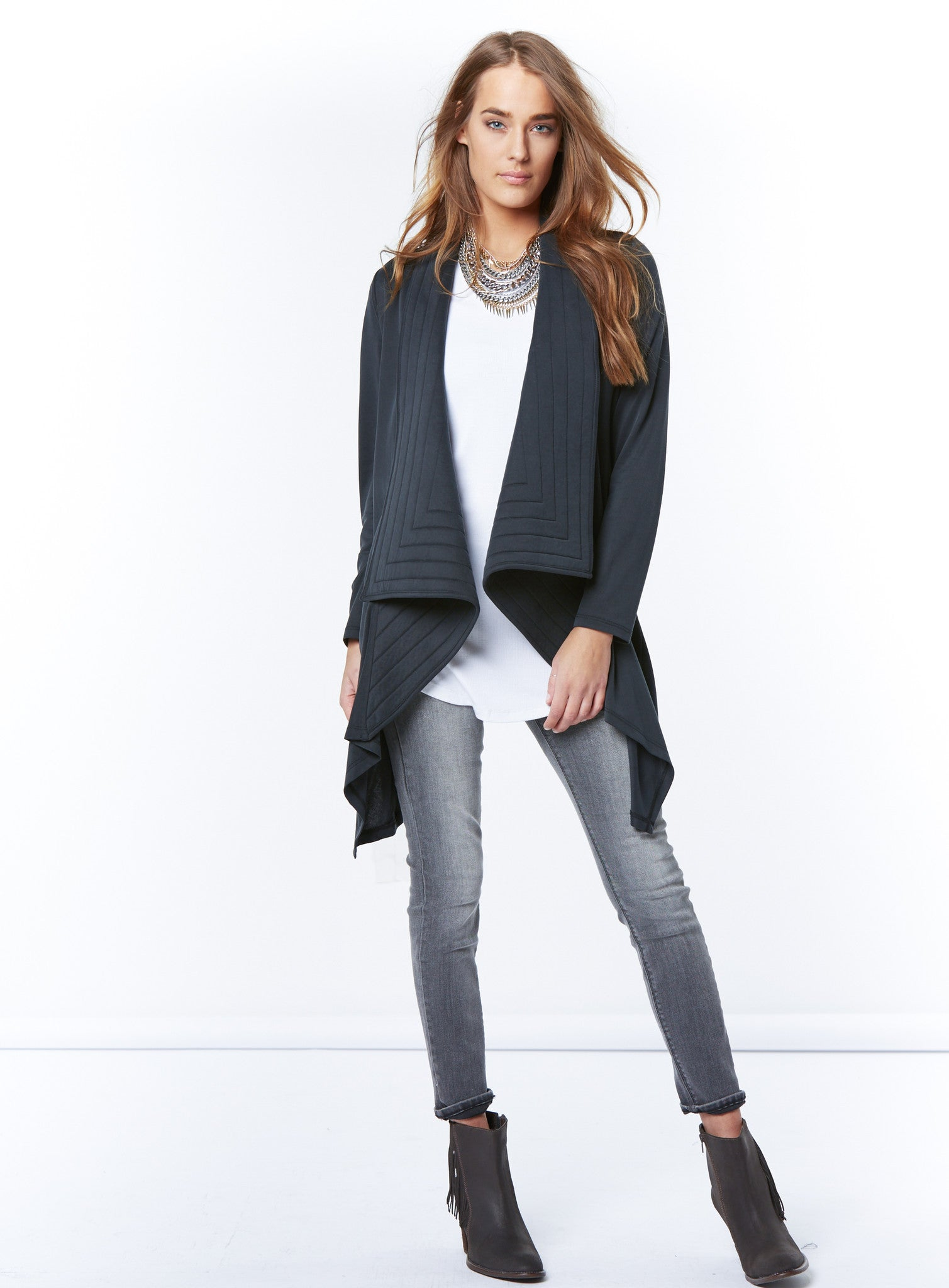 paige quilted cardigan