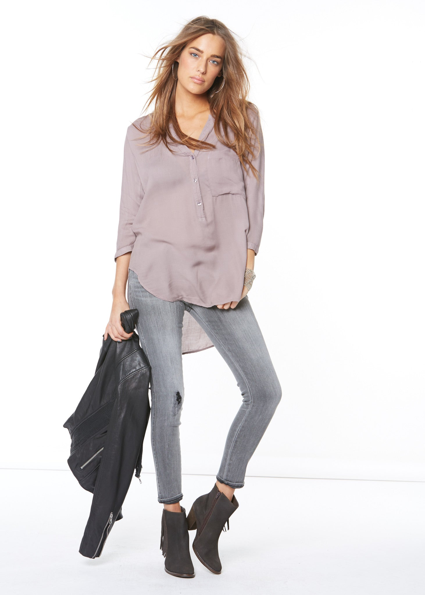 large pocket pullover top