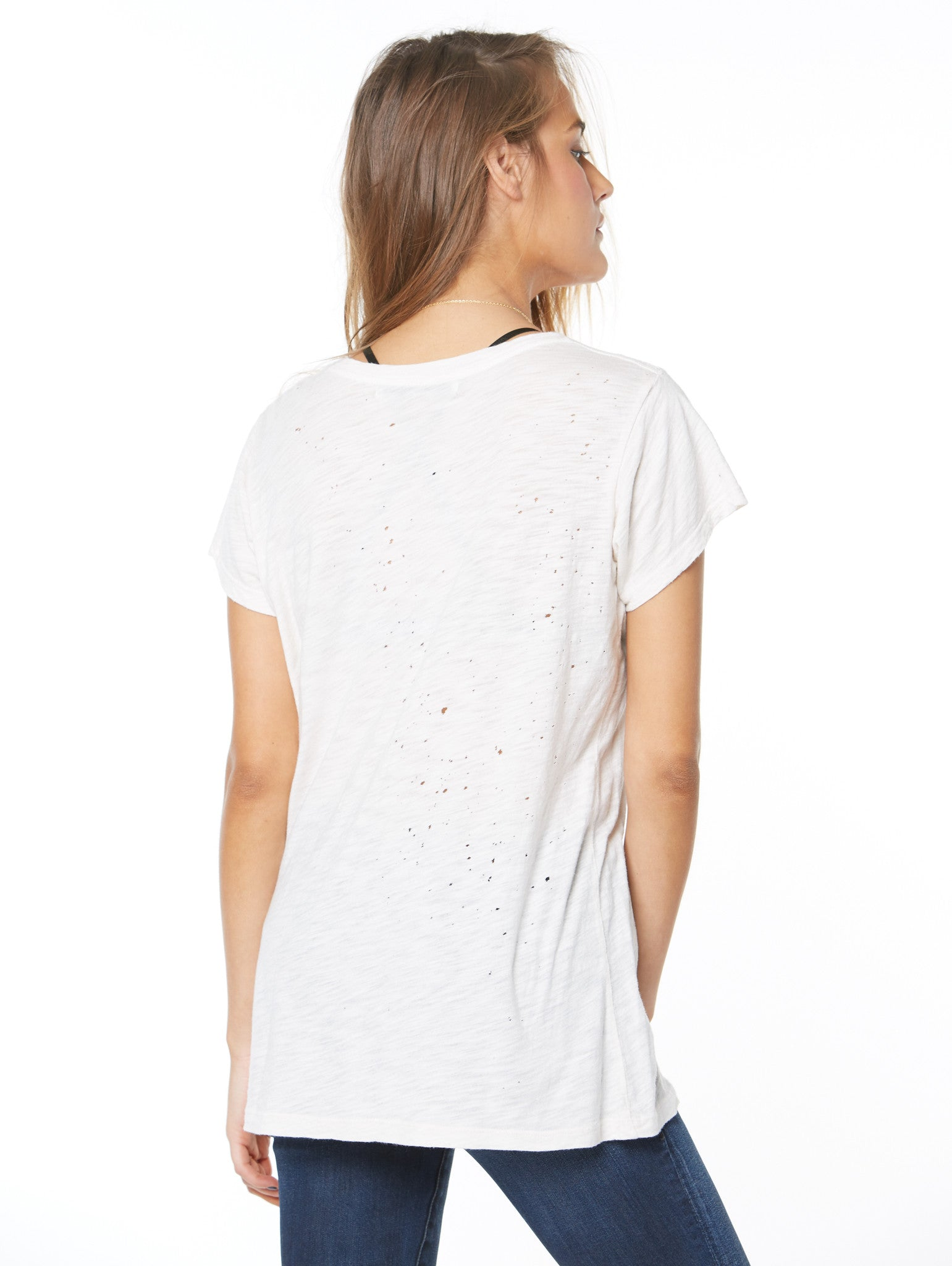 the destroyed scoop neck tee