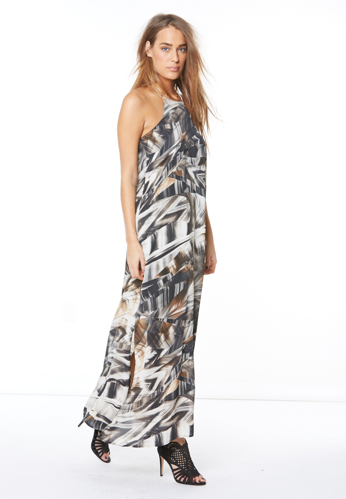 BTN BACK NECK TANK MAXI