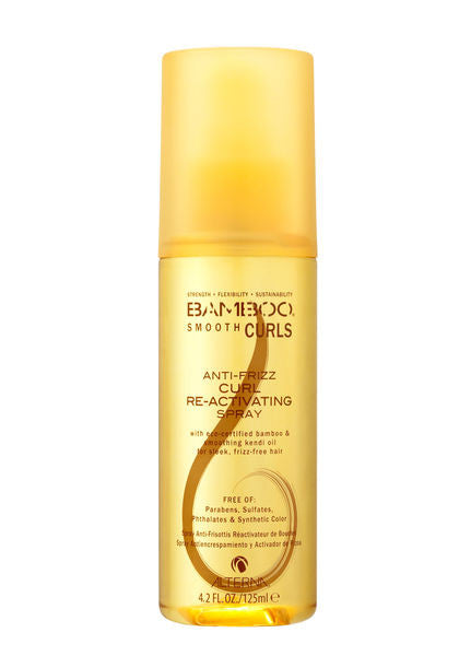 Alterna BAMBOO Smooth Curls Anti-Frizz Curl Re-Activating Spray 4.2 Oz