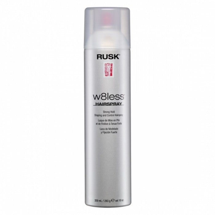 Rusk Designer Collection W8less Strong Hold Shaping and Control Spray 10 Oz 80% VOC