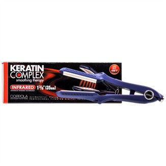 Keratin Complex Smoothing Therapy Infrared Flat Iron - Blue - 1 inch