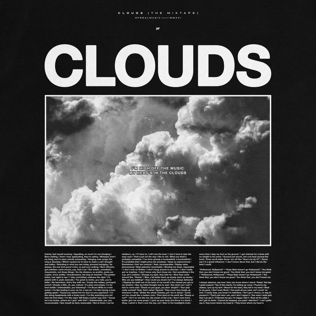 PRE-ORDER Clouds Lyric Photo T-Shirt