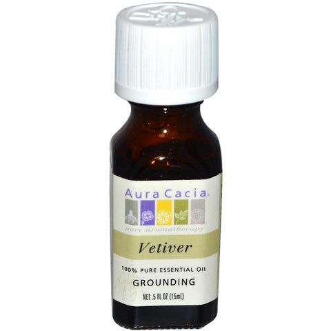 Aura Cacia Vetiver Essential Oil (1x0.5Oz)