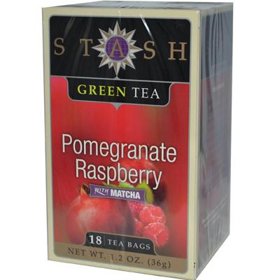 Stash Tea Pomegrante Raspberry With Matcha Tea (6x18 Bag)