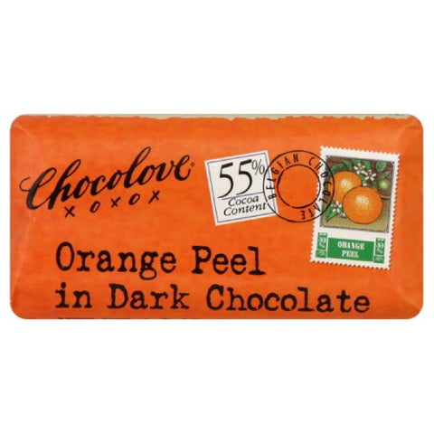 Chocolove Dark Chocolate Orange Peel Mini Bar (12x1.2 Oz)