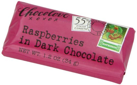 Chocolove Dark Chocolate Raspberry Mini Bar (12x1.2 Oz)