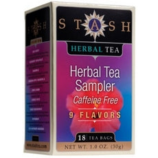 Stash Tea Herbal Tea Sampler, Variety Pack Of Nine Flavors (6x18 Bag )