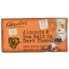 Chocolove Almonds & Sea Salt In Dark Chocolate (12x3.2Oz)