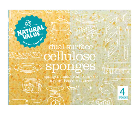 Natural Value Dual Surface Cellulose Sponge (24x4 CT)