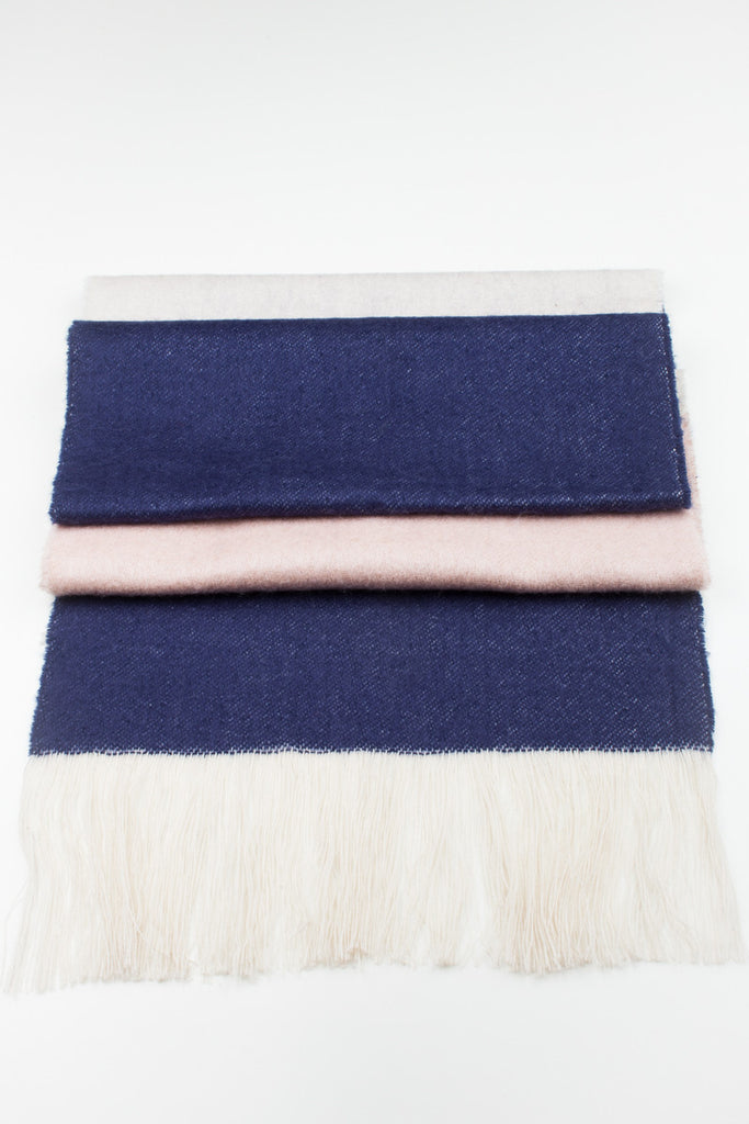 Fringe Colour Block Winter Scarf