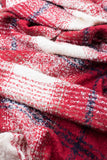 Boucle Check Scarf In Red