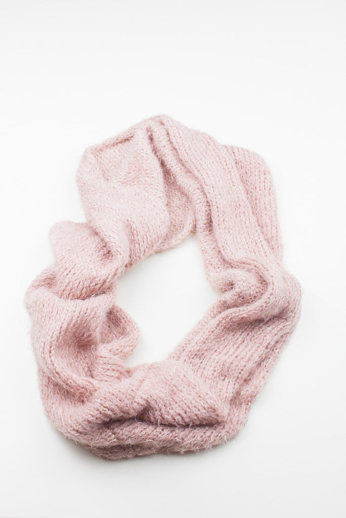 Pink Dalston Soft Knitted Snood