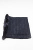 Black Knitted Fur Detail Scarf