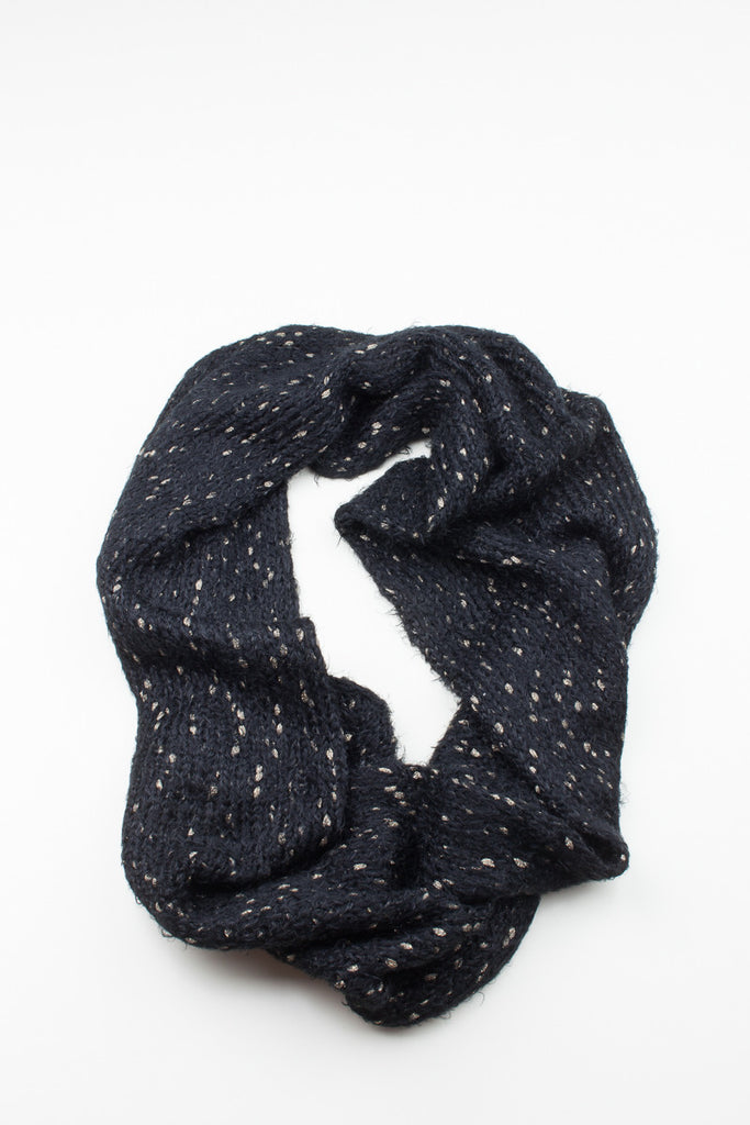 Navy Dalston Soft Knitted Snood - GW Clarissa