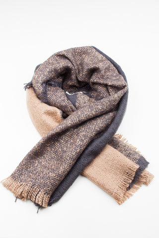 Cosy Colour Block Winter Scarf