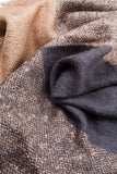 Brown Colour Block Winter Scarf