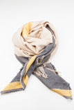 Contrast Colour Block Winter Scarf
