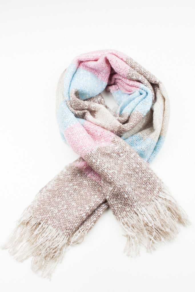 Candy Colour Block Winter Scarf