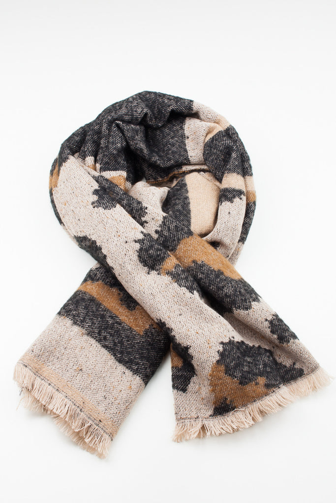 Animal Print Oversized Scarf