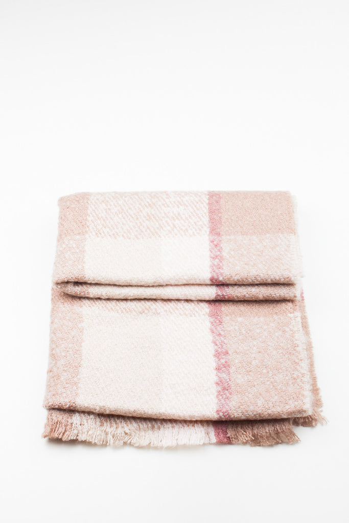 Light Brown Colour Block Winter Scarf