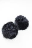 Black Faux Fur Cuffs