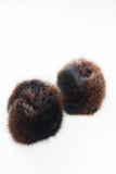 Dark Brown Faux Fur Cuffs