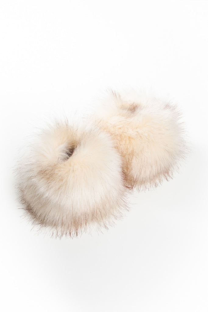 Cream Faux Fur Cuffs