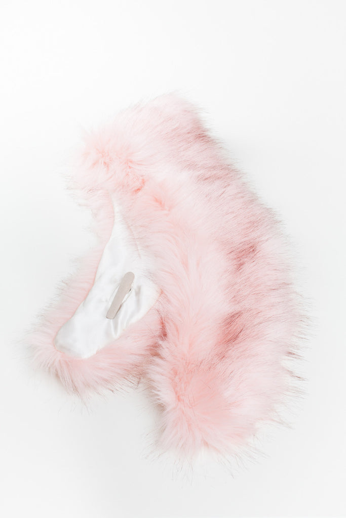 Champaign Pink Regular Length Faux Fur Scarf