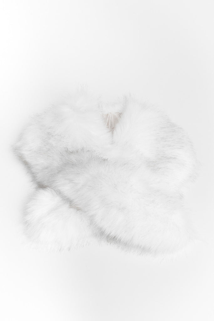 Ivory Regular Length Faux Fur Scarf