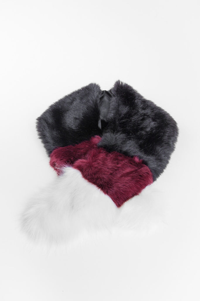 Contrast Regular Length Faux Fur Scarf