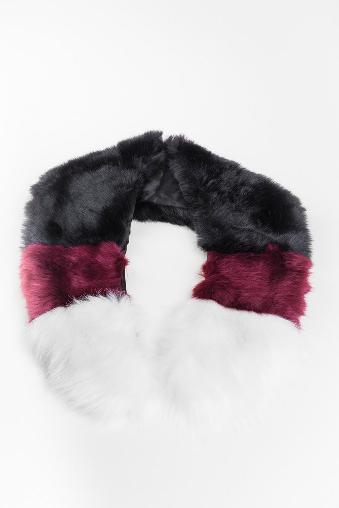 Contrast Regular Length Faux Fur Scarf - GW Clarissa